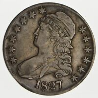 1827 CAPPED BUST HALF DOLLAR - CIRCULATED 0162