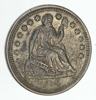 1856 SEATED LIBERTY HALF DIME - CIRCULATED 4077