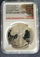 2017 S NGC SILVER EAGLE PF 70 ULTRA CAMEO ER LIMITED EDITION PROOF SET TROLLEY
