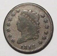 1812 CLASSIC HEAD LARGE CENT GREAT EYE APPEAL  / WEAK STRIKE / SHARP FINE 4B66