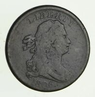 1806 DRAPED BUST HALF CENT - CIRCULATED 2809