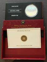 2006 FINE SILVER HOLOGRAM CALGARY CANADA PROOF FINISH COIN M