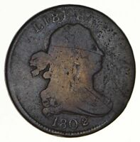 1802/0 DRAPED BUST HALF CENT - CIRCULATED 2897