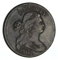 1807 DRAPED BUST LARGE CENT - CIRCULATED 1255