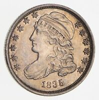 1835 CAPPED BUST DIME 2496