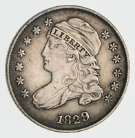 1829 CAPPED BUST DIME- CIRCULATED 2372
