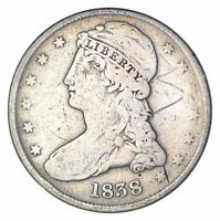 1838 CAPPED BUST HALF DOLLAR - CIRCULATED 6069