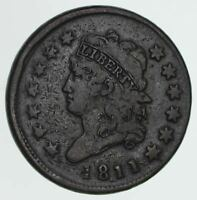 1811 CLASSIC HEAD LARGE CENT - CIRCULATED 3944