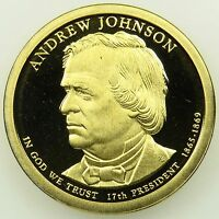 2011 S DEEP CAMEO PROOF ANDREW JOHNSON PRESIDENTIAL DOLLAR B03