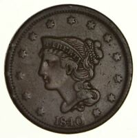 1840 BRAIDED HAIR LARGE CENT - CIRCULATED 6197