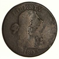 1803 DRAPED BUST LARGE CENT SHELDON S-249 - CIRCULATED 6210