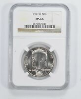 MINT STATE 66 1971-D KENNEDY HALF DOLLAR - NGC GRADED 5937