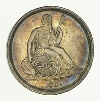 1837 SEATED LIBERTY SILVER DIME - CIRCULATED 2695
