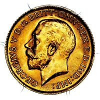 1914 KING GEORGE V GREAT BRITAIN GOLD HALF 1/2 SOVEREIGN PCG