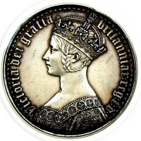 SCARCE 1847 QUEEN VICTORIA GREAT BRITAIN SILVER PROOF GOTHIC