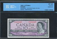 1954 $10 BANK OF CANADA  U/T 0215497  REPLACEMENT CCCS EF45 BC 40BA BV$925