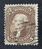 CKSTAMPS: US STAMPS COLLECTION SCOTT76 5C JEFFERSON USED CV$120