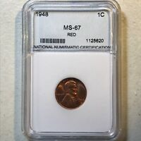 1948 1C RD LINCOLN CENT, IN NNC HOLDER 46831
