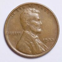 1933 LINCOLN WHEAT CENT PENNY CHOICE VF SHIPS FREE E176 N