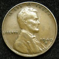1940 D LINCOLN WHEAT CENT PENNY VF  FINE B03