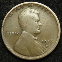 1916 S LINCOLN WHEAT CENT PENNY VG  GOOD B03
