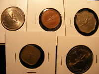 MUSCAT & OMAN   5 DIFFERENT COINS   HIGHER GRADES