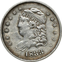 1833 CAPPED BUST HALF DIME VF /  FINE, 5C C39011