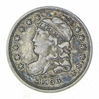 1836 CAPPED BUST HALF DIME - SHARP 8228