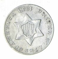 1853 SILVER THREE-CENT PIECE - TRIME - CIRCULATED 6036