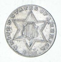 1858 SILVER THREE-CENT PIECE - CIRCULATED 1314