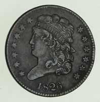 1826 CLASSIC HEAD HALF CENT - CIRCULATED 4713
