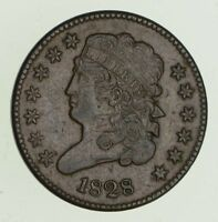 1828 CLASSIC HEAD HALF CENT - CIRCULATED 4707