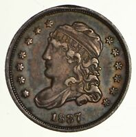 1837 CAPPED BUST HALF DIME LM-1 - CIRCULATED 6286
