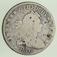 1802 DRAPED BUST DOLLAR - WIDE NORMAL DATE - CIRCULATED 0430