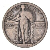 1921 STANDING LIBERTY QUARTER - CIRCULATED 8114