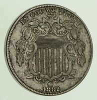 1882 SHIELD NICKEL - WITHOUT RAYS - CIRCULATED 8119