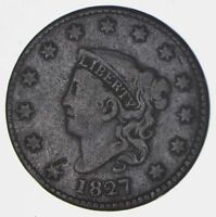 1827 MATRON HEAD LARGE CENT - CIRCULATED 5655