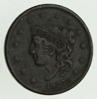 1837 YOUNG HEAD LARGE CENT - CIRCULATED 9513