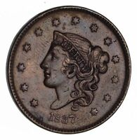 1837 YOUNG HEAD LARGE CENT -NEAR UNCIRCULATED 1493