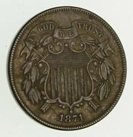 1867 TWO-CENT PIECE - CIRCULATED 9408
