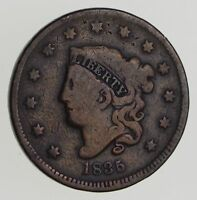 1835 MATRON HEAD LARGE CENT - CIRCULATED 7201