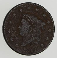 1823 MATRON HEAD LARGE CENT - N-2 - CIRCULATED 7206