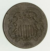 1871 TWO-CENT PIECE - CIRCULATED 9409