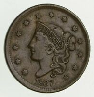 1837 YOUNG HEAD LARGE CENT - CIRCULATED 9516