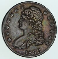 1833 CAPPED BUST HALF DOLLAR - CIRCULATED 3555