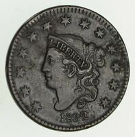 1832 MATRON HEAD LARGE CENT - CIRCULATED 9420