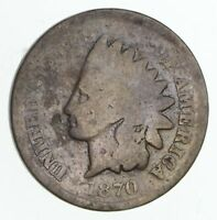 1870 INDIAN HEAD CENT - CIRCULATED PICK AXE 4080