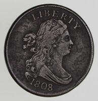 1808/7 DRAPED BUST HALF CENT - CIRCULATED 7777