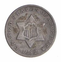 1852 SILVER THREE-CENT PIECE - TRIME - CIRCULATED 9773