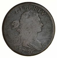 1796 DRAPED BUST LARGE CENT - REVERSE OF 1794 - CIRCULATED 5565